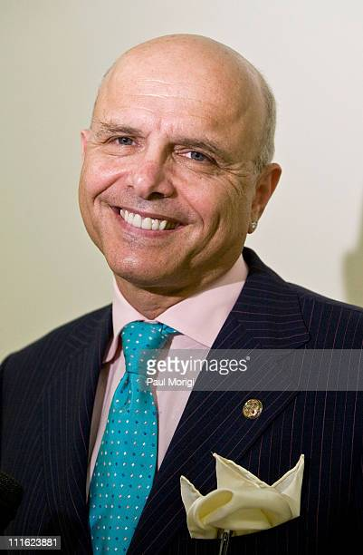 Joe Pantoliano actor and founder of No Kidding Me Too poses for a photo at a Stigma of Mental Illness among Veterans and Public Congressional...