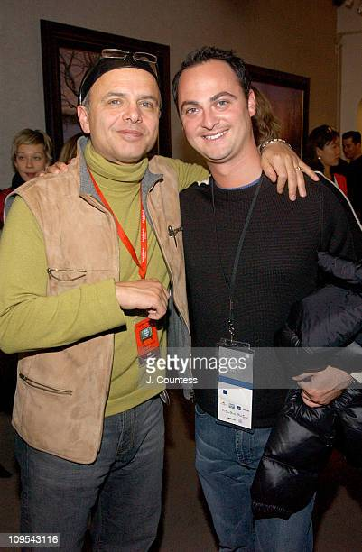Joe Pantoliano and Alex Schaffel of UTA during 2004 Park City Creative Coalition Party at WireImage Gallery by Diet Coke With Lime in Park City Utah...
