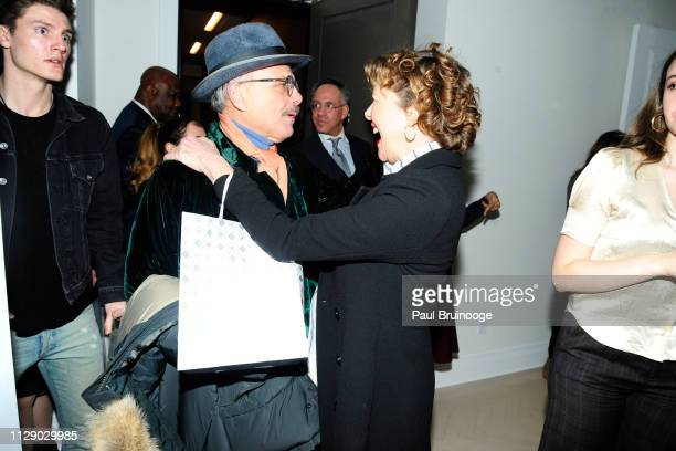 Joe Pantoliano and Annette Bening attend The Cinema Society With Synchrony Bank And FIJI Water Host The After Party For Marvel Studios' 'Captain...