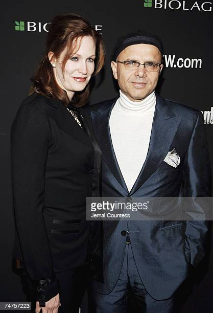 Joe Pantoliano and Nancy Sheppard at the Elaine's in New York City New York