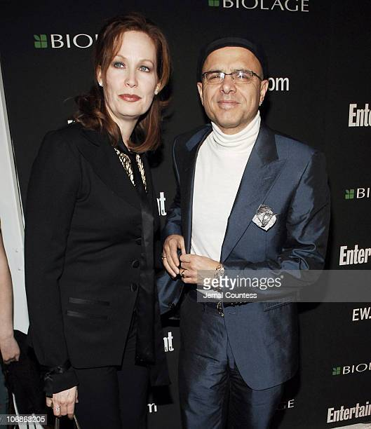 Joe Pantoliano and Nancy Sheppard during The 78th Annual Academy Awards Entertainment Weekly New York Viewing Party Arrivals at Elaine's in New York...