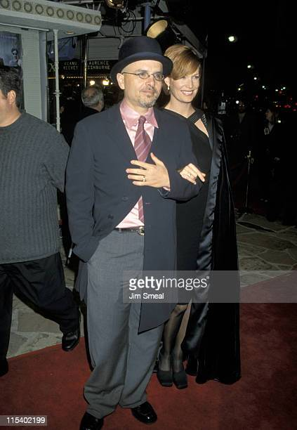 Joe Pantoliano and Nancy Sheppard during The Matrix Los Angeles Premiere at Manns Village Theater in Westwood California United States