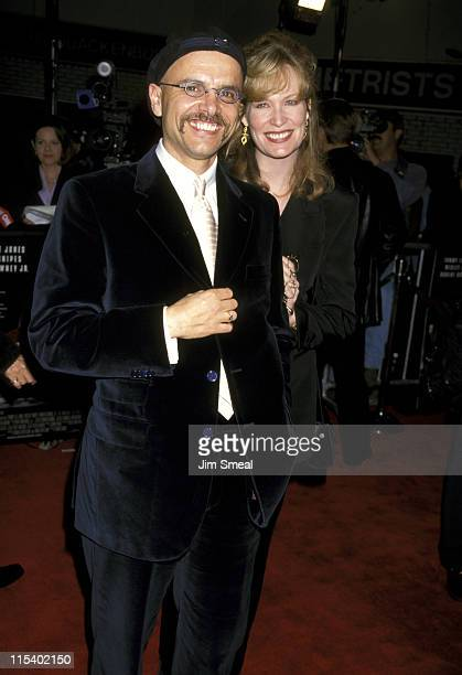 Joe Pantoliano and Nancy Sheppard during US Marshals Los Angeles Premiere at Mann Village Theatre in Westwood California United States