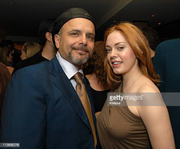 Joe Pantoliano and Rose McGowan during 2003 UTA UpFront Party at LIGHT in New York City New York United States