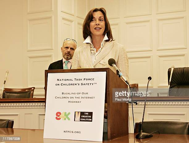 Joe Pantoliano and Wendie Malick during Inaugural Gathering of the National Task Force on Children's Safety Led by the Creative Coalition and...