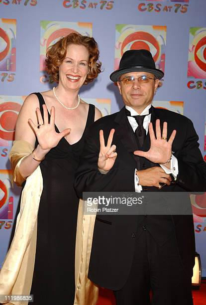 Joe Pantoliano and wife Nancy during CBS at 75 - Commemorating CBS'S 75th Anniversary - Arrivals at The Hammerstein Theater in New York City, New...