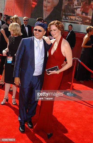 Joe Pantoliano and wife Nancy Sheppard at the 55th Annual Emmy Awards at the Shrine Auditorium