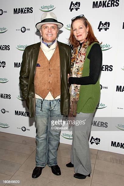 Joe Pantoliano and wife Nancy Sheppard attend the MAKERS Women Who Make America New York Premiere at Alice Tully Hall on February 6 2013 in New York...