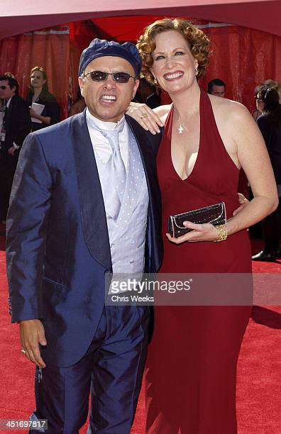 Joe Pantoliano and wife Nancy Sheppard during 55th Annual Primetime Emmy Awards Arrivals at The Shrine Auditorium in Los Angeles California United...