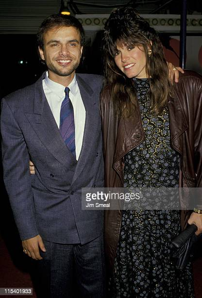 Joe Pantoliano and Wife Nancy Sheppard during Empire of the Sun Los Angeles Premiere at Mann's Village Theater in Westwood California United States