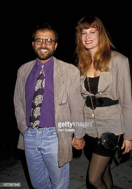 Joe Pantoliano and wife Nancy Sheppard during Joe Pantoliano and Nancy Sheppard Sighting at Spago's Restaurant in Hollywood April 12 1991 at Spago's...