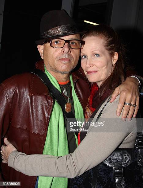 Joe Pantoliano and wife Nancy Sheppard pose backstage at the LAByrinth Theater Company's 6th Annual Gala Benefit at Terminal 5 on October 20 2008 in...