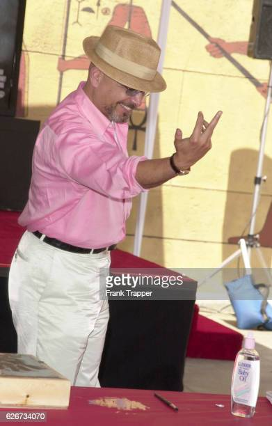 Joe Pantoliano from the new comedy Cats Dogs A finger and pawprint ceremony took place where hands and paws autographed concrete mementos which will...