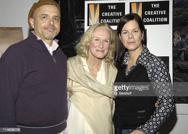 Joe Pantoliano Glenn Close and Marcia Gay Harden during Canvas Screening Presented by The Creative Coalition December 11 2006 at The Screening Room...