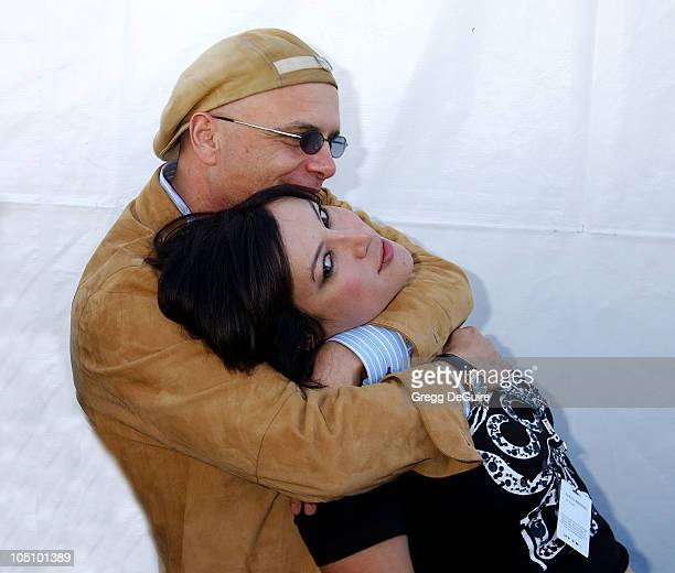 Joe Pantoliano Jennifer Tilly during The 18th Annual IFP Independent Spirit Awards Backstage at Santa Monica Beach in Santa Monica California United...