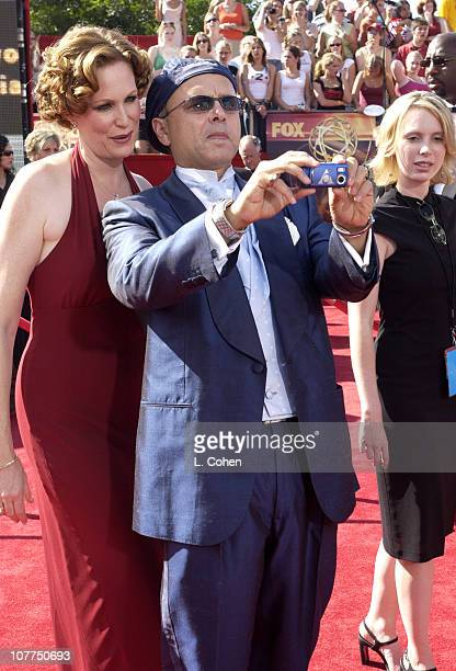 Joe Pantoliano with wife Nancy Sheppard during The 55th Annual Primetime Emmy Awards Nokia Red Carpet at The Shrine Theater in Los Angeles California...