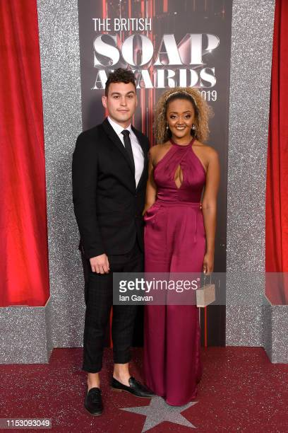 Joe Parker and Alexandra Mardell attends the British Soap Awards at The Lowry Theatre on June 01 2019 in Manchester England