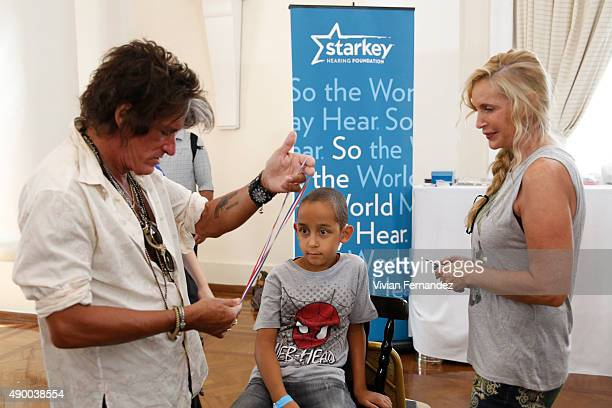 Joe Perry and Billie Paulette Montgomery from The Hollywood Vampires attend the Starkey Hearing Foundation event to support and benefit people in...