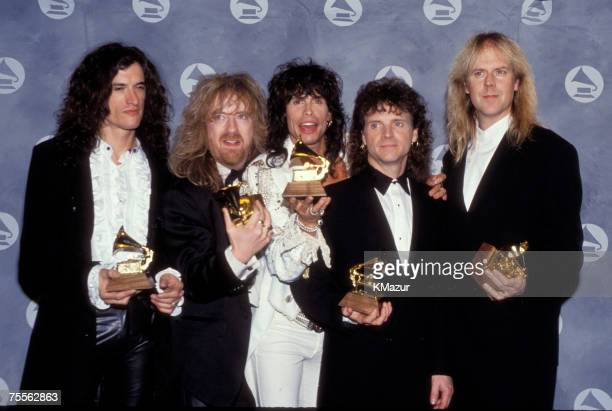 Joe Perry Brad Whitford Steven Tyler Joey Kramer and Tom Hamilton of Aerosmith