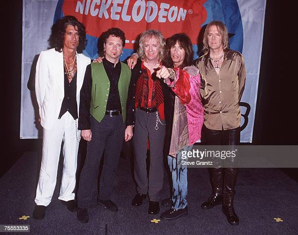 Joe Perry Joey Kramer Brad Whitford Steven Tyler and Tom Hamilton of Aerosmith