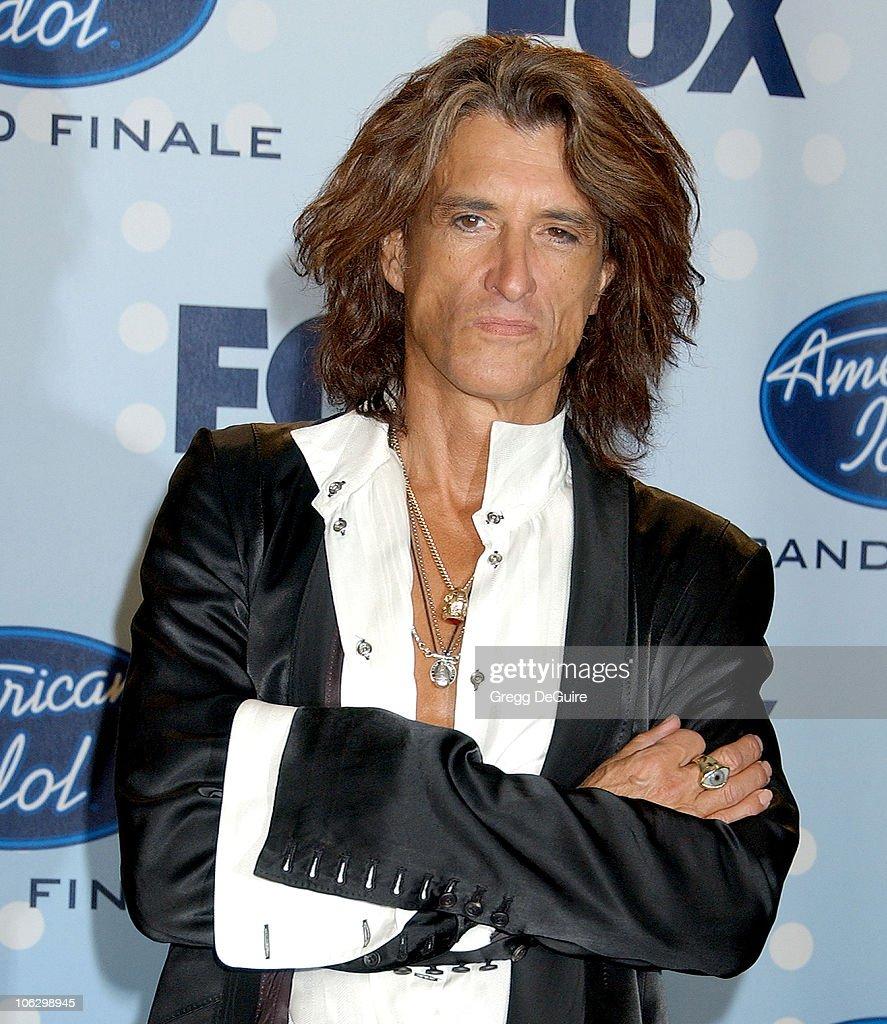 Joe Perry of Aerosmith during 'American Idol' Season 6 Finale - Press Room at Kodak Theatre in Hollywood, California, United States.
