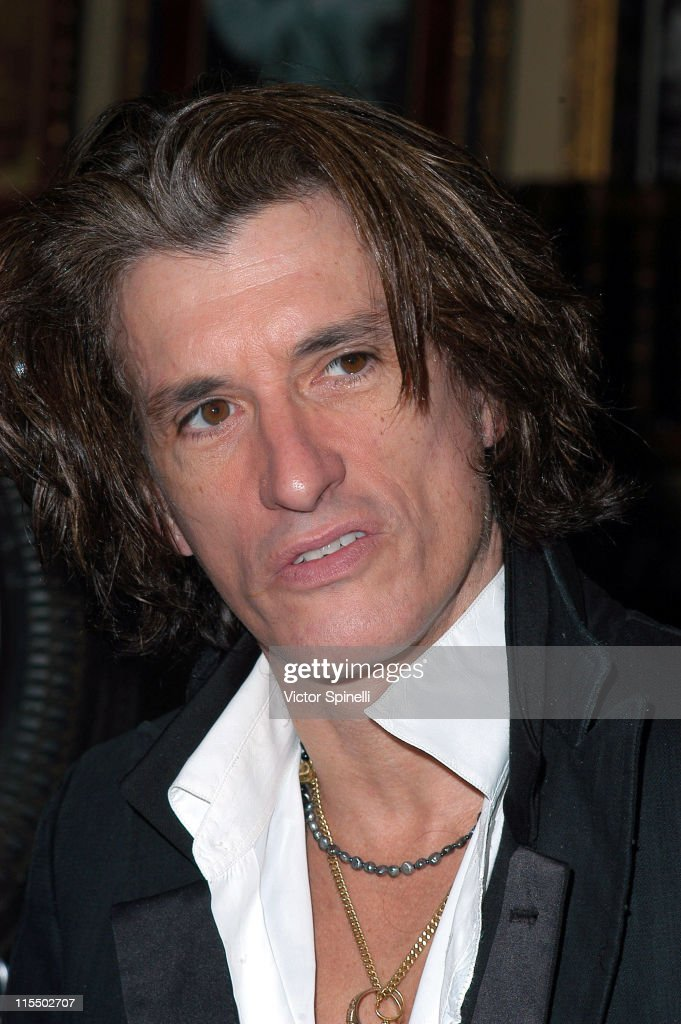 Joe Perry of Aerosmith during Joe Perry of Aerosmith Launches His 'Rock Your World' Hot Sauce at the Beverly Hills Hard Rock Cafe at Hard Rock Cafe in Beverly Hills, California, United States.