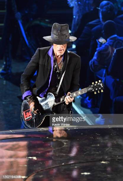 Joe Perry of music group Aerosmith performs during the 62nd Annual GRAMMY Awards at STAPLES Center on January 26 2020 in Los Angeles California