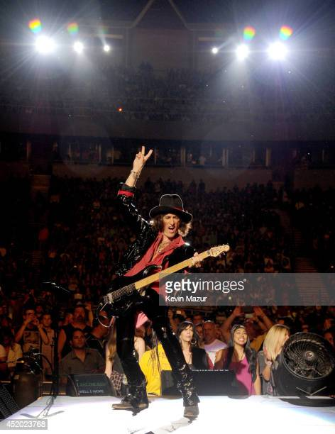 Joe Perry performs with Aerosmith at Nikon at Jones Beach Theater on July 10 2014 in Wantagh New York