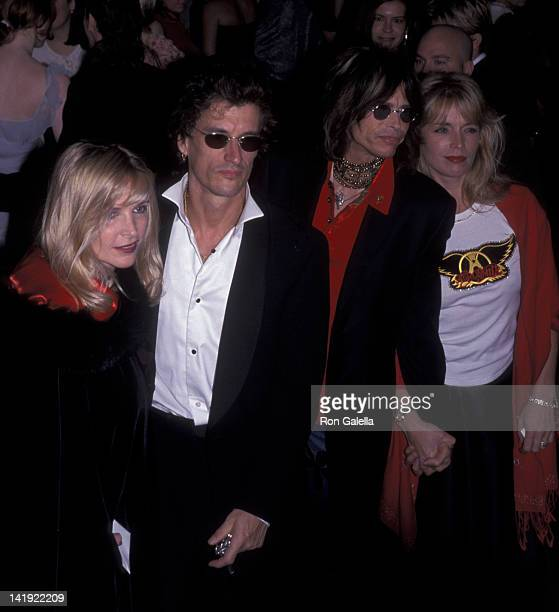 Joe Perry wife Bille Perry and Steven Tyler and wife Teresa Barrick attend Metropolitan Museum of Art Costume Institute Exhibition Rock Syle on...