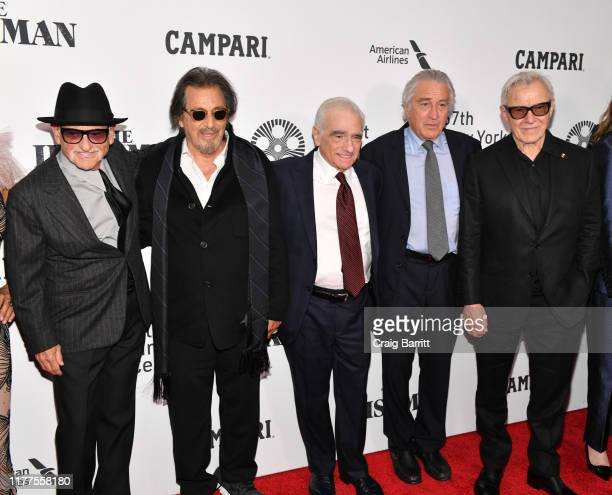 Joe Pesci Al Pacino Martin Scorsese Robert De Niro and Harvey Keitel attend as Campari sponsors Opening Night of the 57th New York Film Festival on...