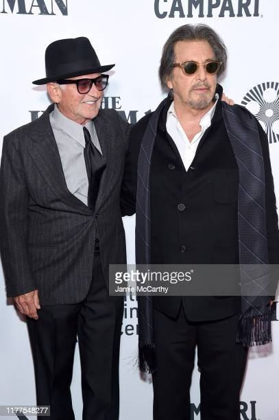Joe Pesci and Al Pacino attend The Irishman screening during the 57th New York Film Festival at Alice Tully Hall Lincoln Center on September 27 2019...