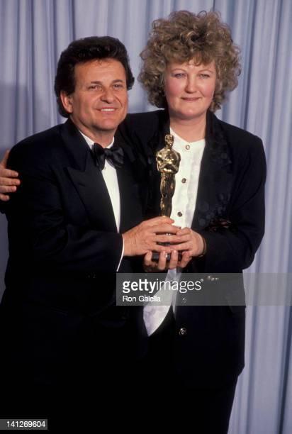Joe Pesci and Brenda Fricker at the 63rd Annual Academy Awards, Shrine Auditorium, Los Angeles.