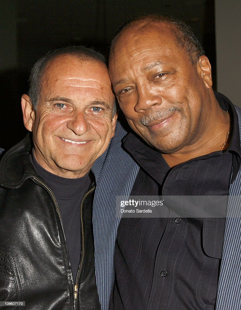 Joe Pesci and Quincy Jones during Millennium Promise West Coast Launch Honoring Jeffrey Sachs at Private Home in Beverly Hills, CA, United States.
