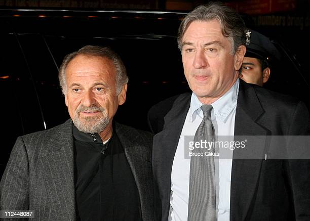 Joe Pesci and Robert De Niro during 'Jersey Boys' Broadway Opening Night Arrivals at The August Wilson Theater in New York City New York United States