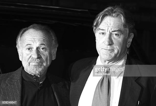 Joe Pesci and Robert De Niro during Jersey Boys Broadway Opening Night Arrivals at The August Wilson Theater in New York City New York United States