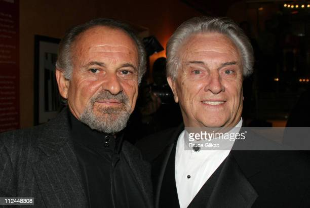 Joe Pesci and Tommy DeVito during Jersey Boys Broadway Opening Night Arrivals at The August Wilson Theater in New York City New York United States
