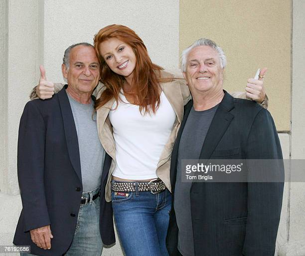 Joe Pesci Angie Everheart and Tommy Devito after having dinner in the the Quarter at the Tropicana Casino Resort in Atlantic City New Jersey on July...