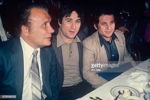 Joe Pesci Robert De Niro Jake LaMotta at a dinner circa 1970 New York