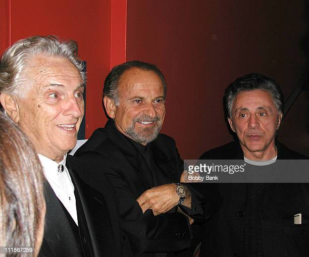 Joe Pesci with Tommy DeVito and Frankie Valli of the Four Seasons *EXCLUSIVE*
