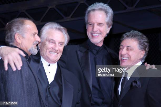Joe Pesci with Tommy DeVito Bob Gaudio and Frankie Valli of the Four Seasons subjects of the musical Jersey Boys