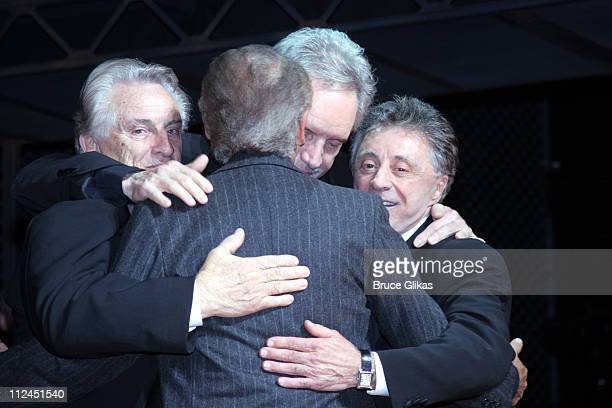Joe Pesci with Tommy DeVito Bob Gaudio and Frankie Valli of the Four Seasons subjects of