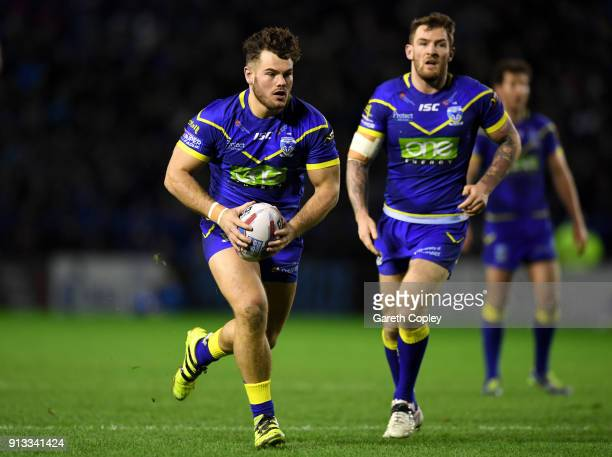 Joe Philbin of Warrington during the Betfred Super League match between Warrington Wolves and Leeds Rhinos on February 1 2018 in Warrington England