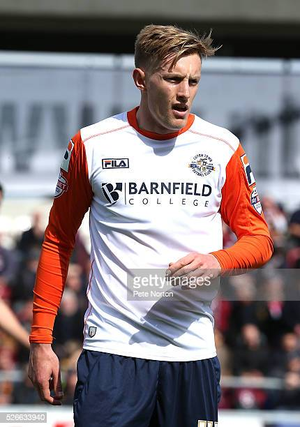 Joe Pigott of Luton Town in action during the Sky Bet League Two match between Northampton Town and Luton Town at Sixfields Stadium on April 30 2016...
