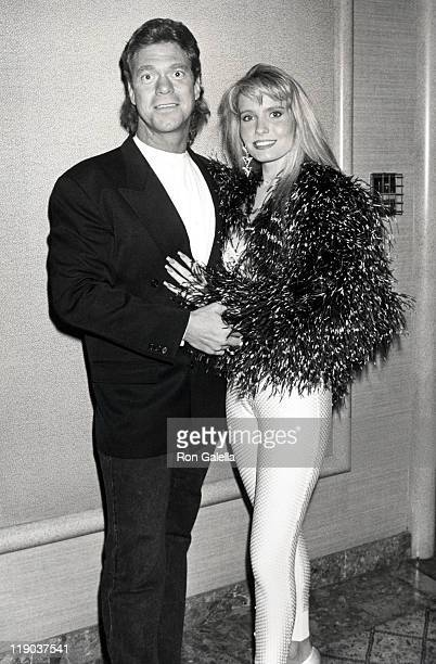Joe Piscopo and Kimberly Driscoll during Holyfield vs Foreman Fight April 19 1991 at Trump Plaza Hotel in Atlantic City New Jersey United States
