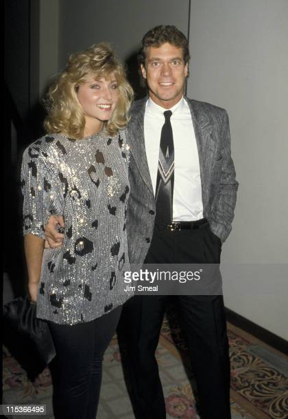 Joe Piscopo and Pamela Bach during Cannon Party at Century Plaza Hotel in Century City, California, United States.