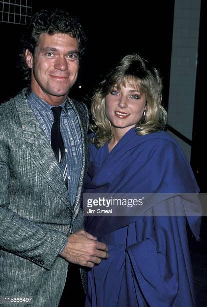 Joe Piscopo and Pamela Bach during Joe Piscopo and Pamela Bach at Nicky Blair's Restaurant - October 22, 1986 at Nicky Blair's Restaurant in Los...