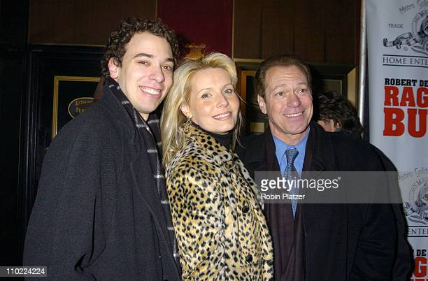 """Joe Piscopo and wife and son Joe during """"Raging Bull"""" 25th Anniversary and Collector's Edition DVD Release Celebration at The Ziegfeld Theatre in New..."""