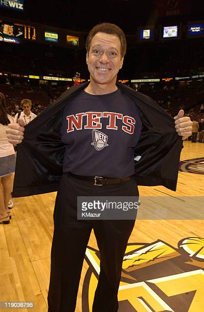 Joe Piscopo during Celebrities at Game 4 of the NBA Finals with the Los Angeles Lakers and the New Jersey Nets at Continental Arena in East...