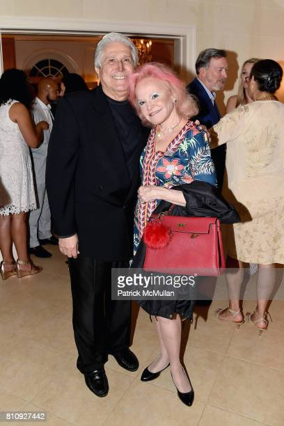 Joe Pontarelli and Jane Pontarelli attend Katrina and Don Peebles Host NY Mission Society Summer Cocktails at Private Residence on July 7 2017 in...