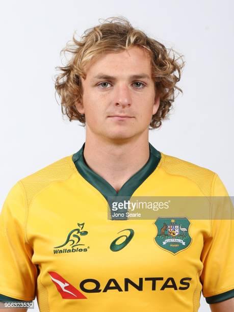 Joe Powell poses during the Australian Wallabies headshot session on May 7 2018 in Gold Coast Australia